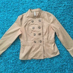 Old Navy Double-Breasted Tan Jacket